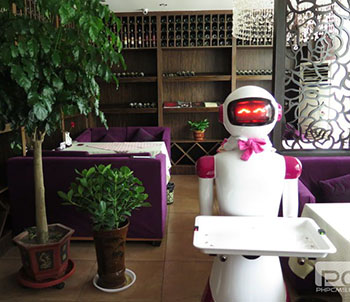 法尔春天咖啡餐厅:餐厅服务机器人